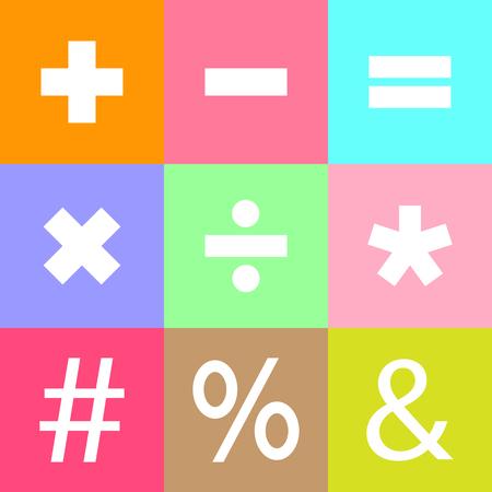 Symboles de base mathématiques.