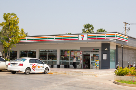 Nakhon Ratchasima, THAILAND - Feb 18, 2016 : 7-Eleven, convenience store with largest number of outlets in Thailand. Editorial