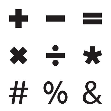 basic: Basic Mathematical symbols. Vector illustration. Illustration