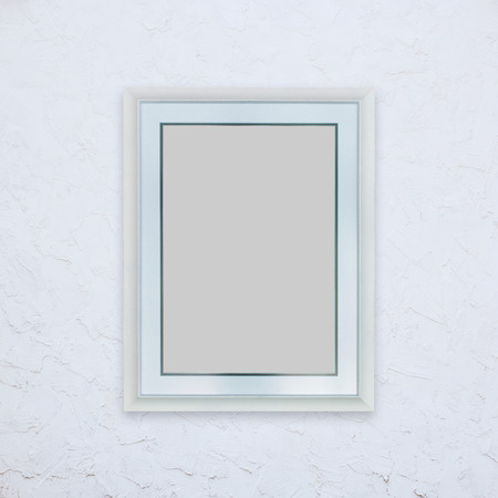 background pictures: Classic wooden frame on white background