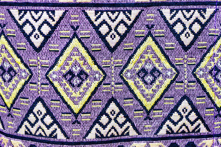 sarong: Background texture of sarong pattern. Traditional Thai style. Stock Photo