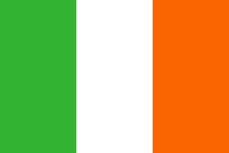 republic of ireland: Flag of Ireland. Republic of Ireland flag vector illustration.