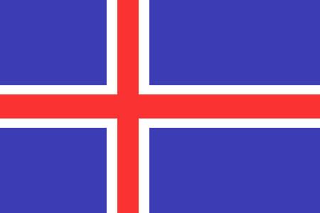 iceland flag: Flag of Iceland. Iceland flag vector illustration. Illustration