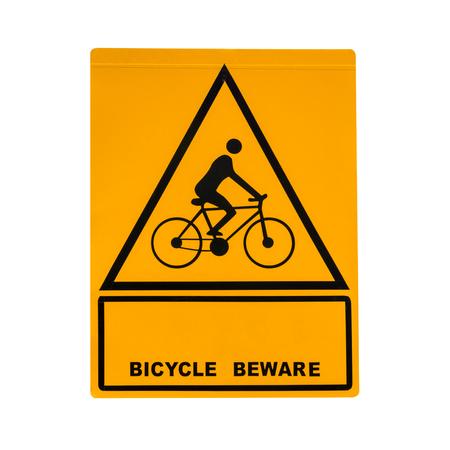 bikeway: Bike sign isolated on white background.