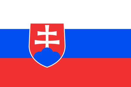 slovakia: Flag of Slovakia. Slovakia flag vector illustration. Illustration