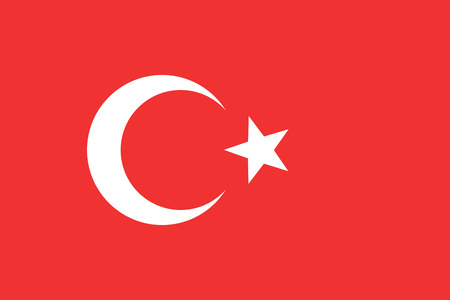 turkey flag: Flag of Turkey. Turkey flag vector illustration. Illustration