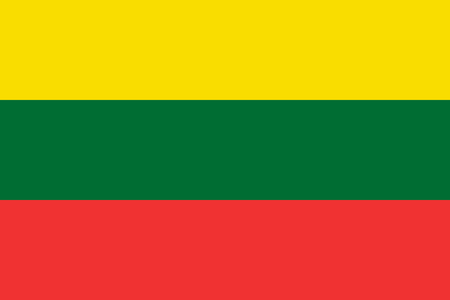 lithuania: Official flag of Lithuania country illustration.