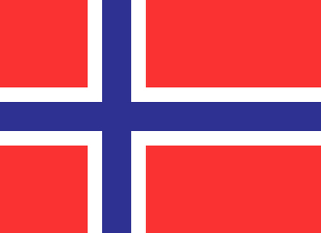norway: Official flag of Norway country illustration.