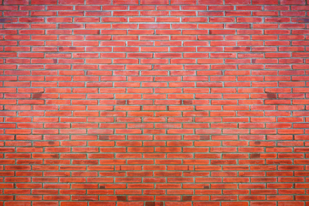 Background of red brick wall pattern texture. Old brick wall.