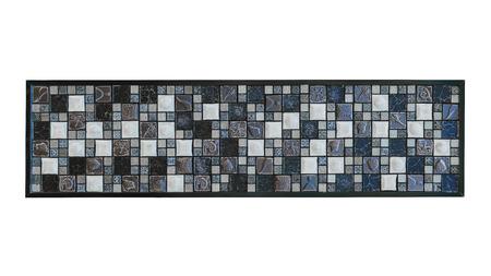 bunte Mosaikfliesen getrennt auf weißem Hintergrund.
