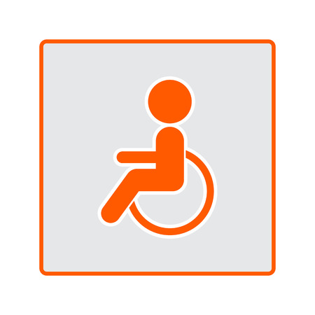 impairment: Disabled sign icon or symbol for your design.