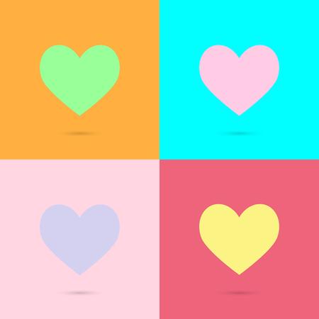 simbol: Valentino simbol cuore. Amore icona. Eps di illustrazione vettoriale 10.