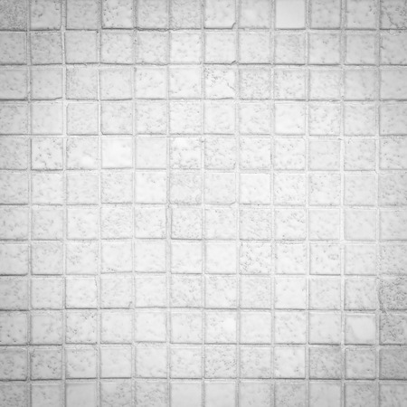 mosaic wall: White and grey mosaic wall texture and background