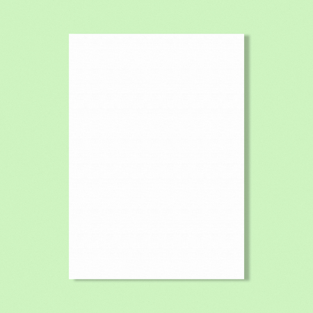 wrinkly: Abstract white paper sheet on green wall background.
