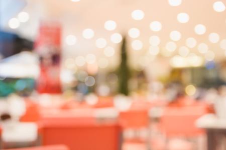 Abstract blur restaurant in supermarket background