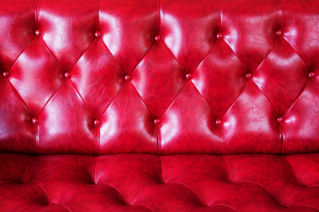 leathern: The luxury of classic red leather texture and background. Stock Photo