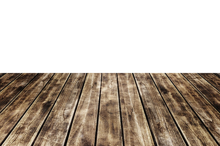 white wood floor: Old wood floor texture isolated on white background. Stock Photo