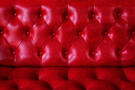 red leather texture: The luxury of classic red leather texture and background. Stock Photo