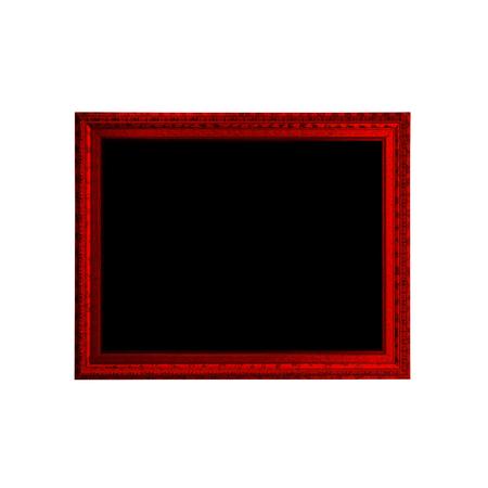 Rode houten frame geïsoleerd op een witte achtergrond.