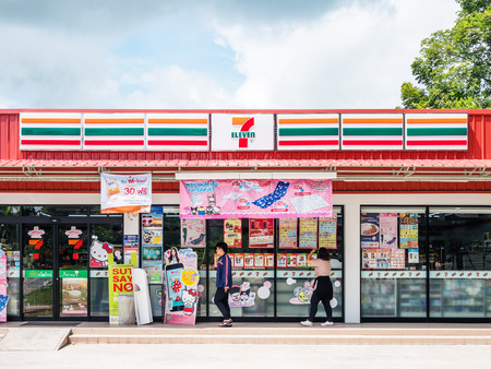 Nakhon Ratchasima, THAILAND - Sep 17, 2017 : 7-Eleven, convenience store with largest number of outlets in Thailand.