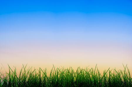 Abstrakter Gradientensonnenaufgang am Himmel mit der Morgenatmosphäre vor Sonnenaufgang.