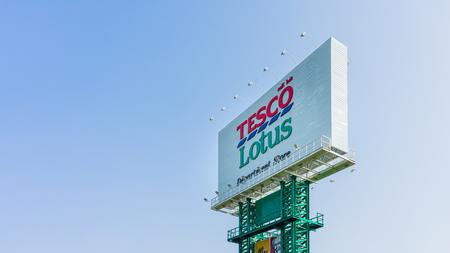 Nakhon Ratchasima, THAILAND - May 16, 2019 : Tesco lotus signage in Korat, Thailand. Tesco Lotus is a hypermarket chain in Thailand.