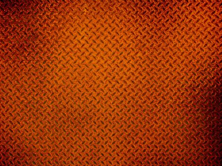 Red metal floor plate texture and background
