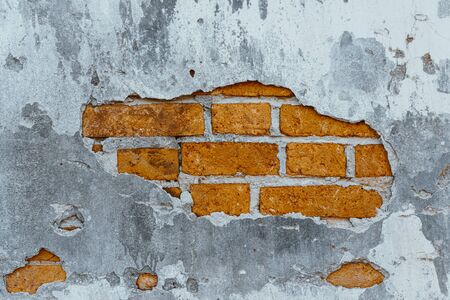Old red bricks wall for texture background.