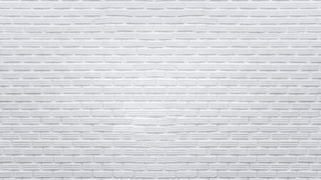 Old white bricks wall for texture and background.
