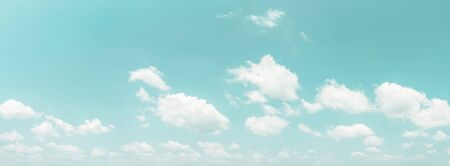 Panorama blue sky and clouds natural background. Vintage color tone style.