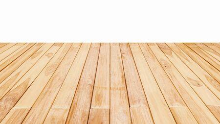 Podłoga drewniana teksturowana na białym tle.