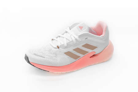 Roi Et, Thailand - March 15, 2021: The ADIDAS Alphatorsion 360 Women's Running Shoes are running shoes that enhance your running day with special features that propel you forward with intense energy. Editorial
