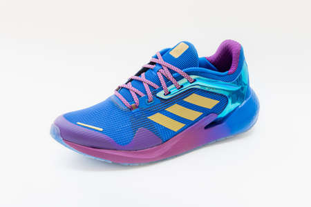 Roi Et, Thailand - March 15, 2021: The ADIDAS Alphatorsion Men's Running Shoes are running shoes that enhance your running day with special features that propel you forward with intense energy.