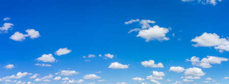 Beautiful panorama blue sky and clouds with daylight natural background. Stock Photo