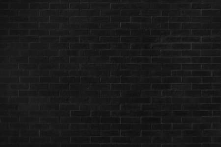 Close-up photos of black brick texture details background. House, shop, cafe and office design backdrop. Paint brickwork wall and copy space.