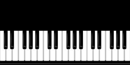 klavier: Klavier-Tastatur Schwarz-Weiß-Hintergrund Illustration