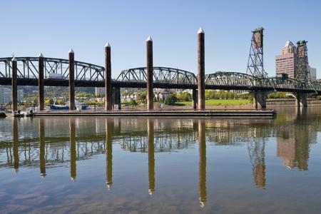 eastbank: Marina by Willamette River In Portland Oregon Waterfront