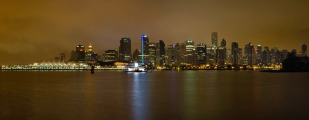 port stanley: Vancouver British Columbia Canada Downtown Skyline at night