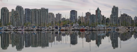 Reflection at Vancouver British Columbia Canada Waterfront Marina photo
