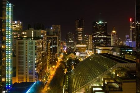 metropolitan: Vancouver BC Canada Cityscape Night Scene View