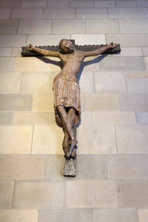 nob hill: Crucifix with Jesus Christ at Grace Cathedral in San Francisco