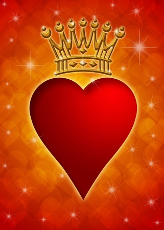 queen of hearts: Valentine Stock Photo