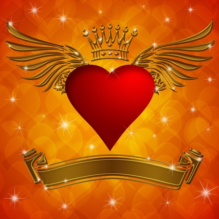 king and queen of hearts: Valentine Stock Photo