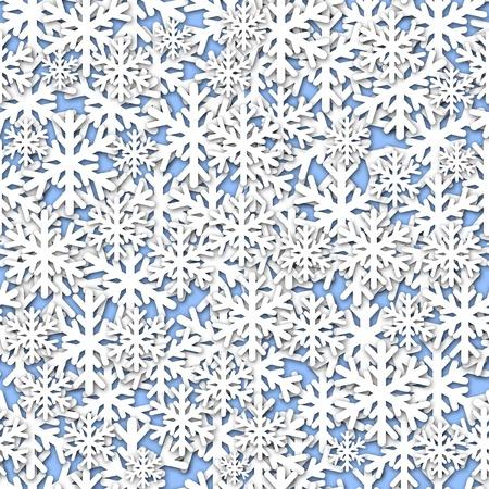 White Snowflakes Seamless Tile on Blue Background Illustration illustration
