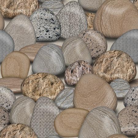 Pebble Rocks Naadloze tegelpatroon Achtergrond Illustratie Stockfoto - 11266658