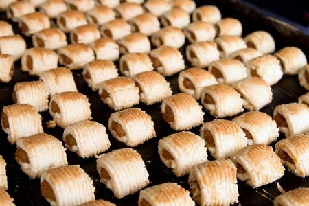 pi�as: Pi�a reci�n horneado Tarta de Pasteler�a local en Melaka Malasia