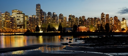 Vancouver BC Canada City Skyline and Deadman Stock Photo