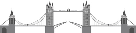 london tower bridge: London Tower Bridge Illustration Isolated on White Background Illustration