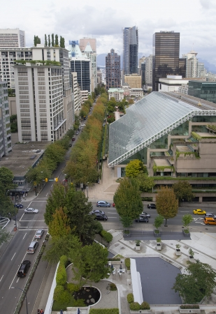 Vancouver BC Canada City Downtown Cityscape View photo