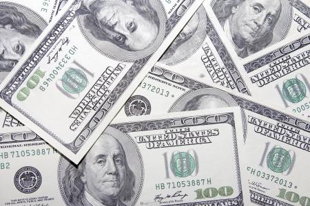 달러: 미국 100 달러 지폐 지폐 배경